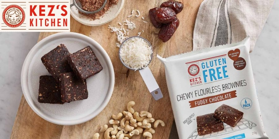 :Kez's Kitchen Chewy Flourless Brownies